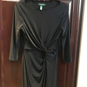 Ralph Lauren 3/4 wrap dress blAck